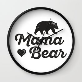 love mama bear Wall Clock