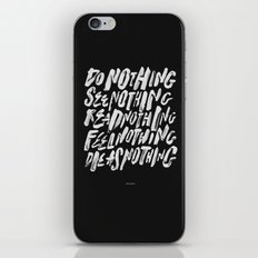 AS NOTHING iPhone & iPod Skin
