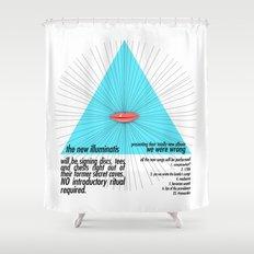 the new illuminatis Shower Curtain