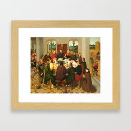 The Last Supper - 15th Century Painting Framed Art Print