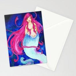 Galaxy Mermaid Stationery Cards
