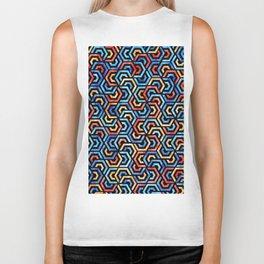 Seamless Colorful Geometric Pattern XXXI Biker Tank