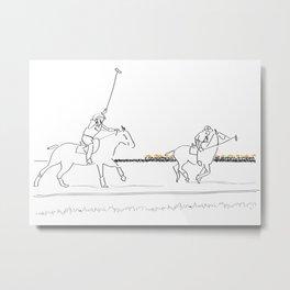 Polo Horses NYC Metal Print