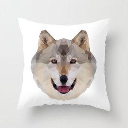 Geometrical Wolf Throw Pillow