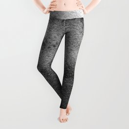 Black Watercolor Waves Leggings