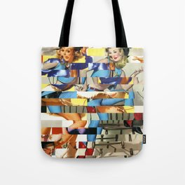 Glitch Pin-Up Redux: Yasmin & Yardley Tote Bag