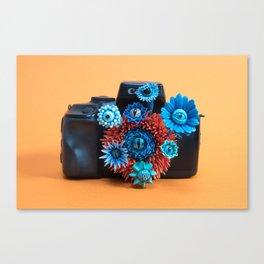 Surveillance Camera | Eyed Flowers Watching | Surrealistic Sculpture by Stephanie Kilgast Canvas Print