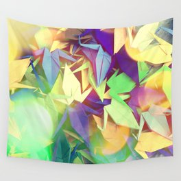 Senbazuru | purples n greens Wall Tapestry