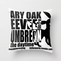 umbreon Throw Pillows featuring Gary's Umbreon by interesting oak