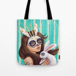 Jackalope and Bunny Tote Bag