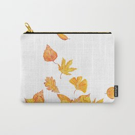 falling yellow leaves watercolor Carry-All Pouch