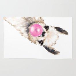 Bubble Gum Sneaky Llama Rug
