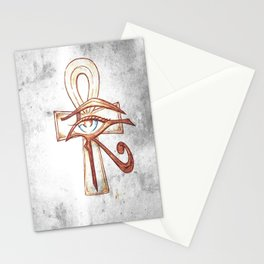 Eye of Horus with Ankh Stationery Cards