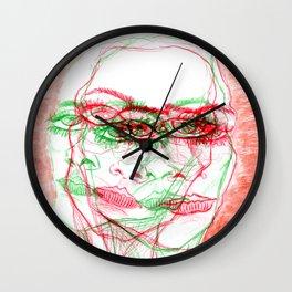 Sliding sadness Wall Clock