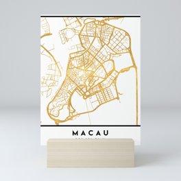 MACAU CHINA CITY STREET MAP ART Mini Art Print