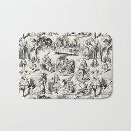 Alice in Wonderland | Toile de Jouy | Black and Beige Bath Mat