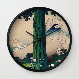 Mishima Pass in Kai Province Wall Clock