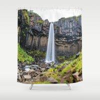secret life Shower Curtains featuring Skaftafell's Secret by Alex Tonetti Photography