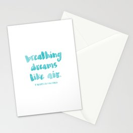 Breathing dreams like air Stationery Cards