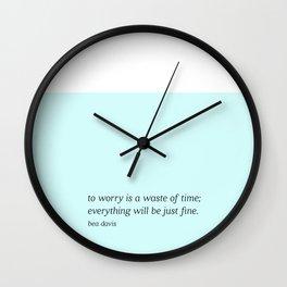 Bea Davis Wall Clock