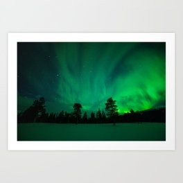 Aurora over Sami Country Art Print
