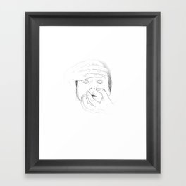 WHITEOUT - Milk Framed Art Print