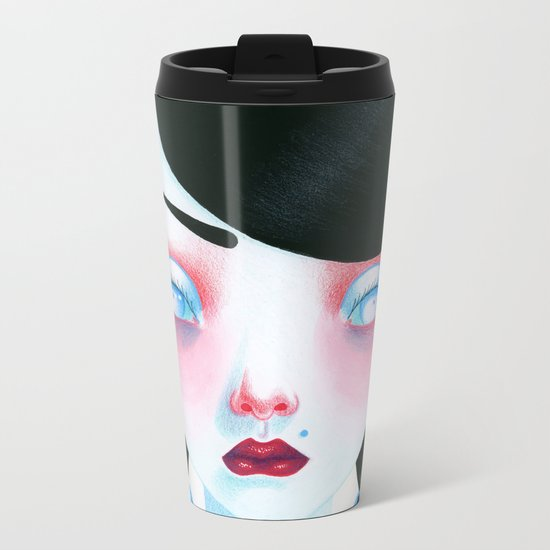 Vampire Girl Metal Travel Mug