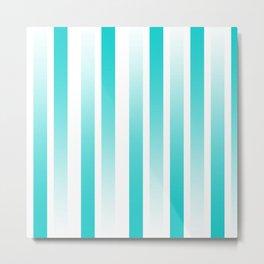 Blue Gradient Lines Metal Print