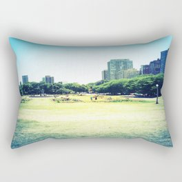 Chicago (outside Lincoln Park Zoo) Rectangular Pillow