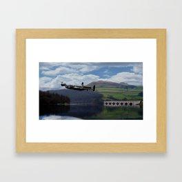 Lancaster Bomber - Dam Buster Framed Art Print