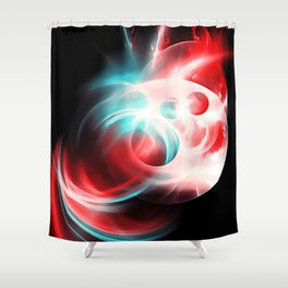 abstract fractals 1x1 reac2s Shower Curtain