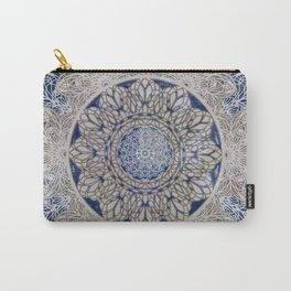Celtic Boho Mandala Shibori Carry-All Pouch