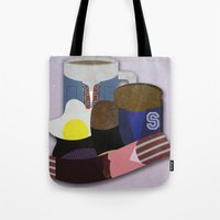 breakfast club Tote Bags featuring Breakfast Club by Matt Humphrey