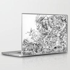 Naruto characters doodle Laptop & iPad Skin