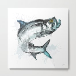 Tarpon Fish Metal Print
