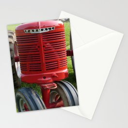 Red Farmall Tractor Stationery Cards
