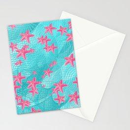 Pink starfish Stationery Cards