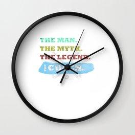 The Man, The Myth, The Legend, The Hockey Coach Wall Clock