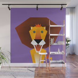 Lion – Childrens Room Illustration for Boys and Girls Wall Mural
