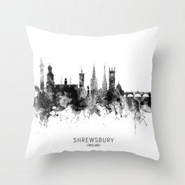 Shrewsbury England Skyline Throw Pillow