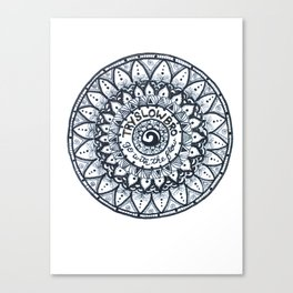Try Slow Bro Canvas Print