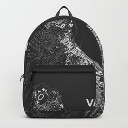 Valparaíso, Chile street map Backpack