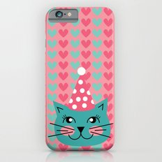 Cat Party hat iPhone 6s Slim Case