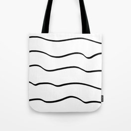 Black waves Tote Bag