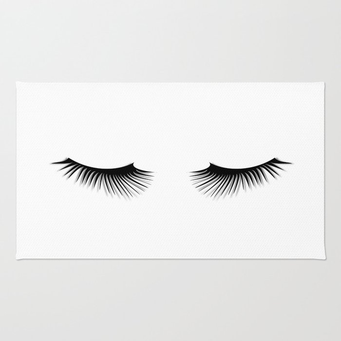 Black And White Lashes Rug