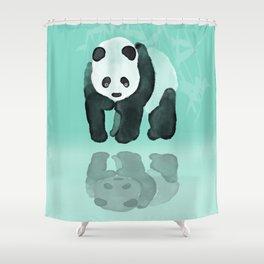 Panda meets Panda Shower Curtain