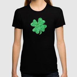 Bright green swirls doodles T-shirt