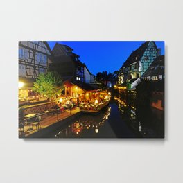 Colmar is still more beautiful in the night - Fine Arts Photography Metal Print