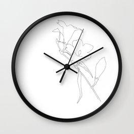 Carolina Jessamine (outline) Wall Clock