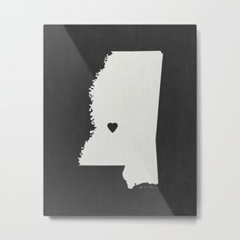 Mississippi Love Metal Print